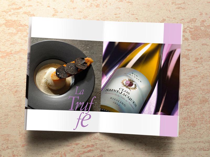 Brochures portfolio culinaire